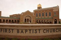 first baptist church amarillo texas tx historic - stock photo