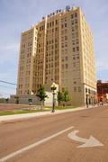 polk building 900 south amarillo texas tx route - stock photo