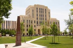 federal courthouse amarillo texas tx government - stock photo