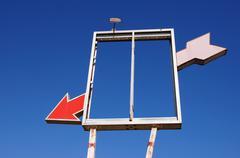 Red arrow through square meade texas tx route 66 Stock Photos