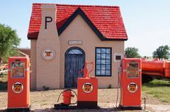 phillips 66 replica gas station mclean tx texas - stock photo