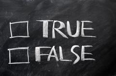 True and false check boxes Stock Photos