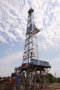 Parker drilling rig 114 elk city oklahoma ok 66 Stock Photos