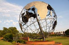 Stock Photo of globe world structure sculpture iphc 7300 nw