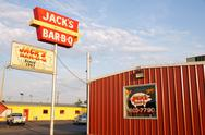 Jack barbeque bbq jacks fast food ribs beef warr Stock Photos