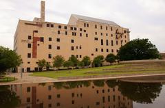 national memorial museum alfred murrah federal - stock photo