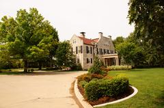 governors mansion governor governer oklahoma ok - stock photo