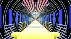 Speed In Light Corridor Stock Footage