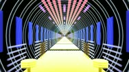 Speed In Light Corridor Stock Footage