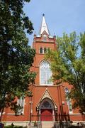 historical trinity lutheran church 1805 south - stock photo