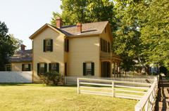 home abraham lincoln national historic site - stock photo