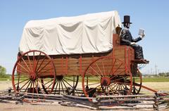 Suurin katettu vaunu maailman Abraham Lincoln Kuvituskuvat