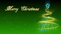 Christmas Tree Background - Merry Christmas 27 (HD) Stock Footage