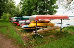 Canoes canoe lake harriet minnesota mn advantage Stock Photos