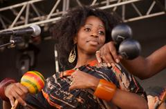 Woman female music african american creole band Stock Photos