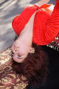 Woman female belly dancing beauty art dancer Stock Photos