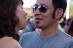Love couple dance man male woman female hispanic Stock Photos