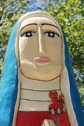 Madonna statue virgen sculpture de guadalupe las Stock Photos