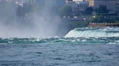 Visitors at Niagara Falls Stock Footage