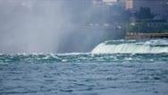 Turbulent Waters Niagara Falls Stock Footage