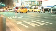 Taxi Only Lane Times Square Stock Footage