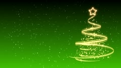 Christmas Tree Background - Merry Christmas 31 (HD) Stock Footage