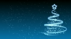 Christmas Tree Background - Merry Christmas 32 (HD) Stock Footage