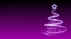 Christmas Tree Background - Merry Christmas 33 (HD) Stock Footage