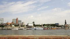 hamburg across the elbe - stock photo