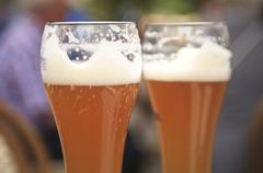 two delicious beers - stock photo