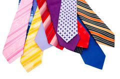 Colourful mens ties Stock Photos