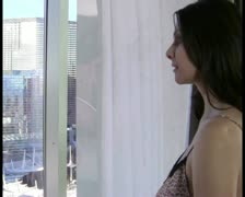 Woman at window V2 - PAL Stock Footage
