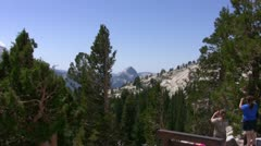 Yosemite 26 Half Dome Zoom In Olmsted Point Stock Footage
