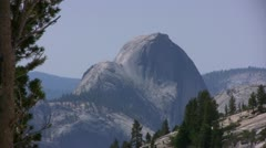 Yosemite 27 Half Dome Zoom Out Olmsted Point Stock Footage