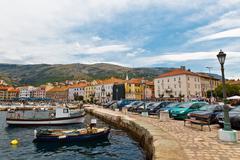 Stock Photo of panorama of mediterranean town senj near istria, croatia