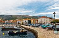 Stock Photo of panorama of mediterranean town senj near istria, croatia