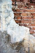 Destroyed brick wall Stock Photos