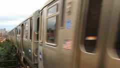Chicago L Train - stock footage