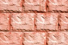 texture red stucco exterior - stock photo