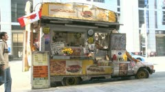 Hot Dog Stand Stock Footage