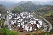 Traditional chinese village Stock Photos