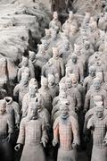 Terracotta warriors Stock Photos