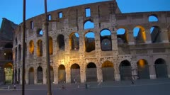 Twilight near Colliseum in Rome, Italy - stock footage