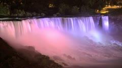Niagara Falls yöväreillä Arkistovideo
