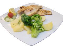 Sea fish dinner - stock photo