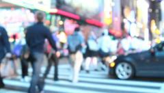 Stock Video Footage of Times Square Crowd
