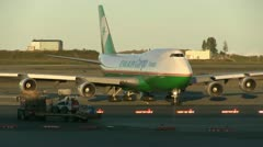 Airport, taxiing, Anchorage Stock Footage