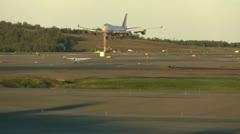Airport, Cargo plane landing Stock Footage
