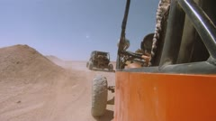 Buggy in the desert Stock Footage