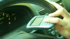 Texting while driving drive dangerous Stock Footage
